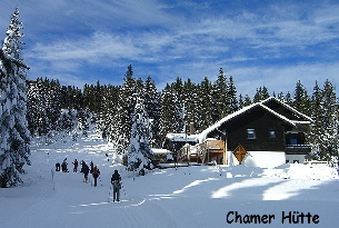 Chamer-Hütte, Winter